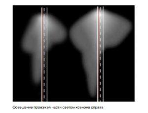 Ксеноновые лампы MAN-D2R - пример освещения