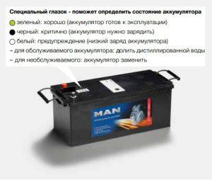 Аккумуляторы МАN